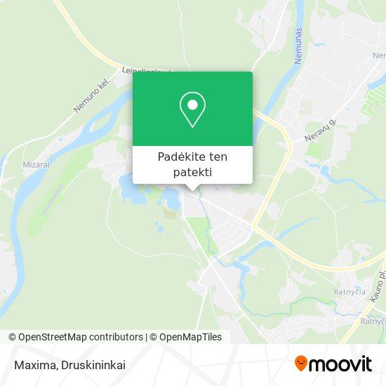 Maxima žemėlapis