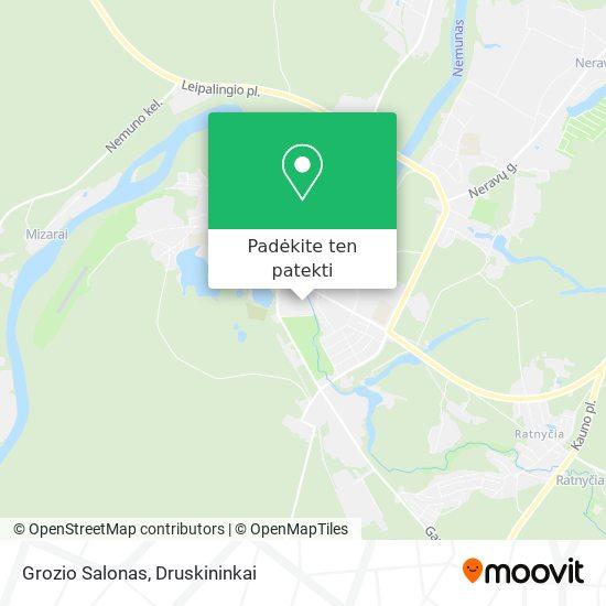 Grozio Salonas žemėlapis