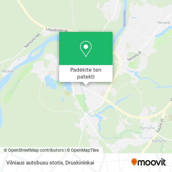 Vilniaus autobusu stotis žemėlapis