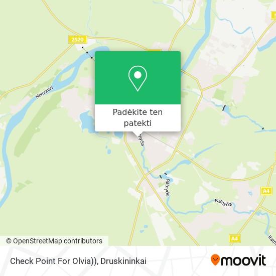 Check Point For Olvia)) žemėlapis