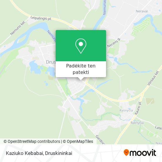 Kaziuko Kebabai žemėlapis