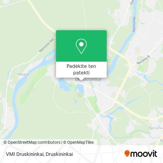 VMI Druskininkai žemėlapis