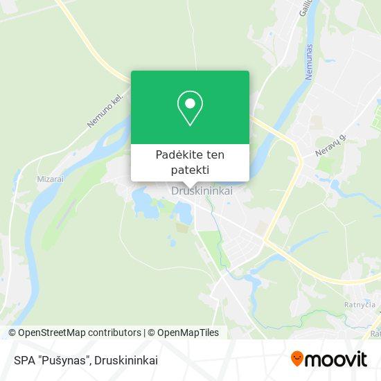 """SPA """"Pušynas"""" žemėlapis"""
