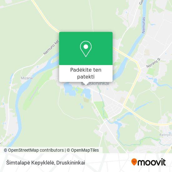 Šimtalapė Kepyklėlė žemėlapis