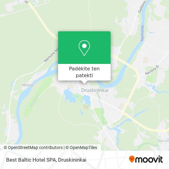 Best Baltic Hotel SPA žemėlapis