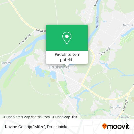 """Kavinė-Galerija """"Mūza"""" žemėlapis"""