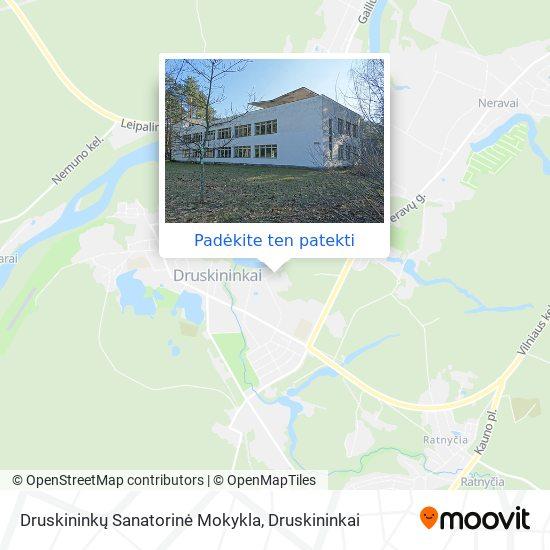 Druskininkų Sanatorinė Mokykla žemėlapis