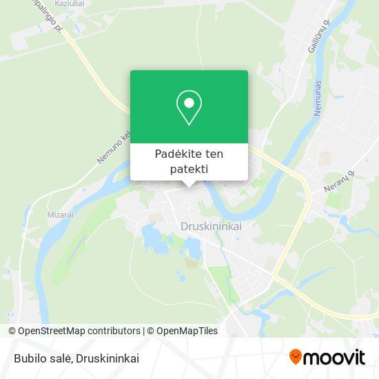 Bubilo salė žemėlapis