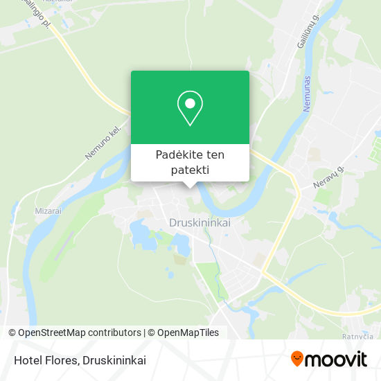 Hotel Flores žemėlapis