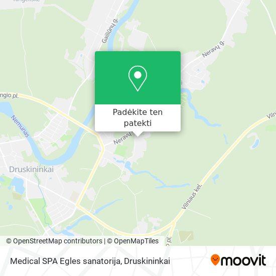 Medical SPA Egles sanatorija žemėlapis