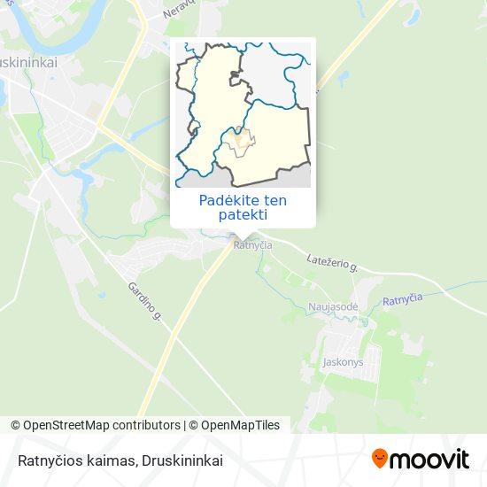 Ratnyčios kaimas žemėlapis