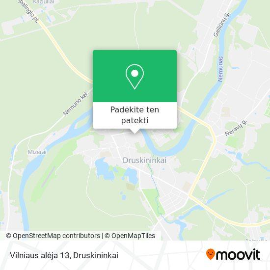 Vilniaus alėja 13 žemėlapis