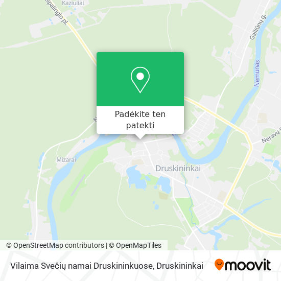 Vilaima Svečių namai Druskininkuose žemėlapis