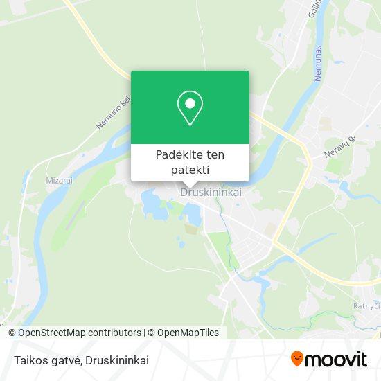Taikos gatvė žemėlapis