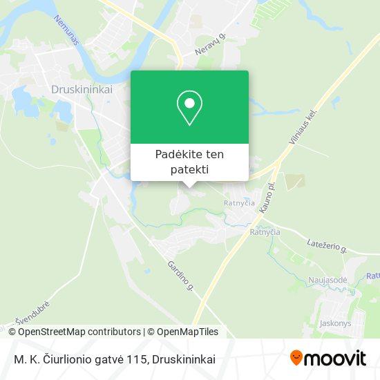 M. K. Čiurlionio gatvė 115 žemėlapis