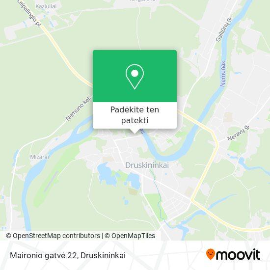 Maironio gatvė 22 žemėlapis