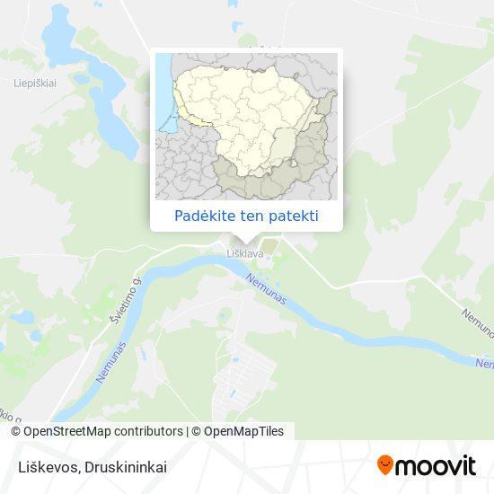 Liškevos žemėlapis