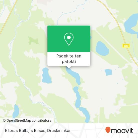 Ežeras Baltajis Bilsas žemėlapis