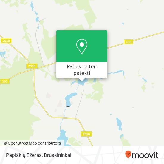 Papiškių Ežeras žemėlapis