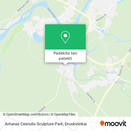Antanas Cesnulis Sculpture Park žemėlapis