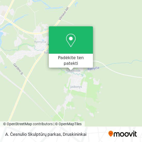 A. Česnulio Skulptūrų parkas žemėlapis