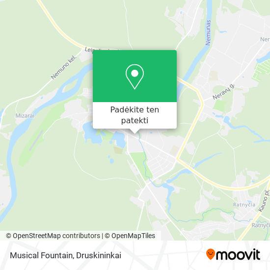 Musical Fountain žemėlapis