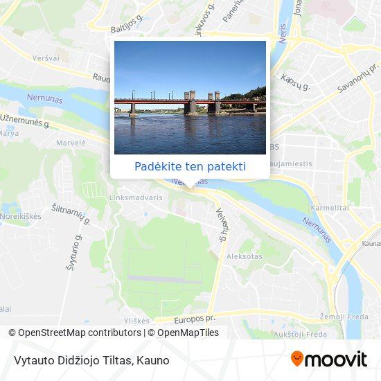 Vytauto Didžiojo Tiltas žemėlapis
